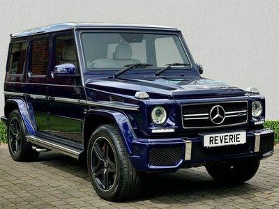 used Mercedes G63 AMG G-Class 5.5 AMG4MATIC 5d 563 BHP DESIGNO MYSTIC BLUE PAINT