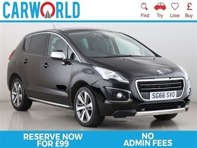used Peugeot 3008 1.6 BLUE HDI S/S ALLURE 5d 120 BHP, 2016 ( )