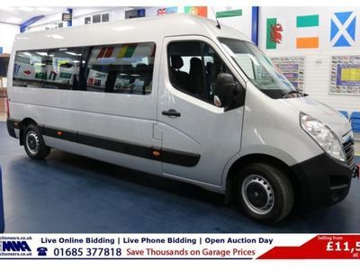 used Vauxhall Movano 3900 2.3CDTI 146PS BI TURBO L3 H2 17 SEAT MINIBUS, 2016, not known, 18000 miles.