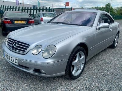 used Mercedes CL500 CLV8 2dr COUPE Auto 95k GREY LEATHER SAT NAV FULL LOADED P/X