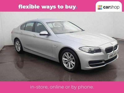 used BMW 518 5 SERIES d [150] SE 4dr Silver Manual Diesel