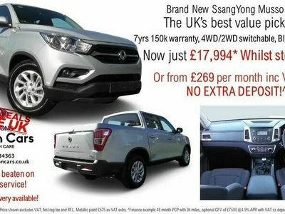 used Ssangyong Musso 2.2TD EX (181ps) (EU6)