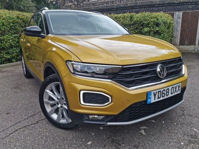 used VW T-Roc 1.5 TSi EVO 150 DSG 2WD Auto Start-Stop SEL Automatic Yellow 2019