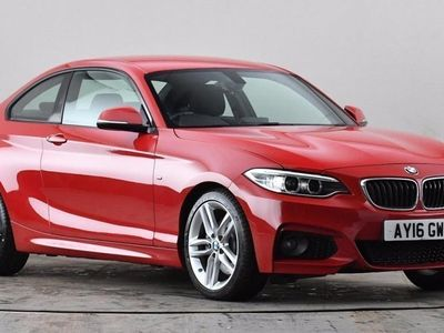 used BMW 228 2 SERIES i M Sport 2dr Step Auto Red Automatic Petrol