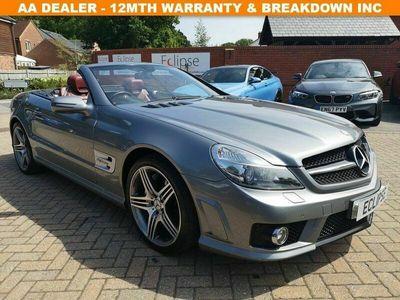 used Mercedes SL63 AMG SL 63 6.2AMG 2d AUTO 525 BHP FSH+LEATHER+ALLOYS+CRUISE+B/T