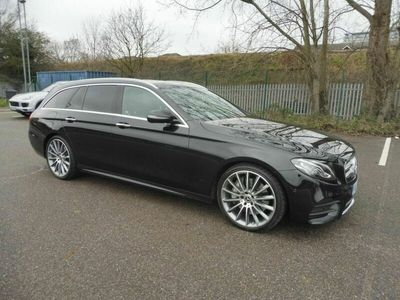 used Mercedes E350 E-CLASS3.0 258 AMG LINE PREMIUM 9G TRONIC 5 DOOR ESTATE IN OBSIDIAN BLACK EURO 6 ULEZ COMPLIANT ONLY 34000 MILES **** £23995 **** 3.0