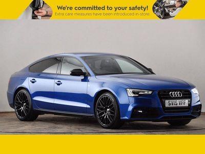 used Audi A5 2.0 TDI 177 Black Edition Plus 5dr [5 Seat] Blue Manual Diesel