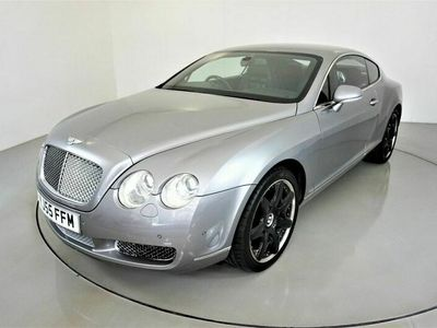 used Bentley Continental 6.0 GT 2d 550 BHP-SILVER TEMPEST-BLACK BELUGA LEATHER-DARK STAINED BURR WAL