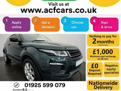 used Land Rover Range Rover evoque ED4 SE TECH - CAR FINANCE FR £289 PCM