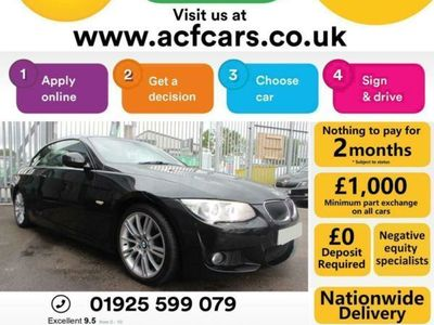 used BMW 330 Cabriolet 330d M SPORT - CAR FINANCE FR £48 PW Auto Convertible 2012