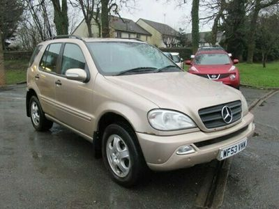 used Mercedes ML270 M-Class 2.7CDI 5d 163 BHP CHEAP PX TO CLEAR-MOT SEPTEMBER
