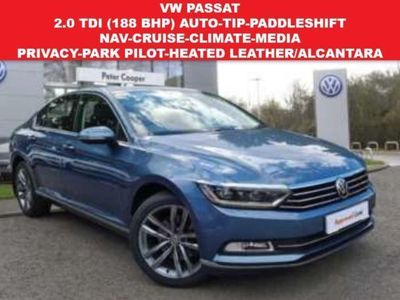 used VW Passat 2.0 GT TDI (188 BHP) BLUEMOTION TECHNOLOGY DSG 4DR..NAV..HEATED LEATHER