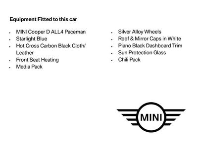 used Mini Cooper D Paceman ALL4 2.0 3dr