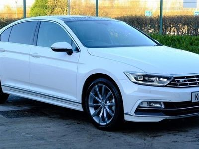 used VW Passat 2.0 TSI R Line 4dr DSG [Panoramic Roof] White Automatic Petrol