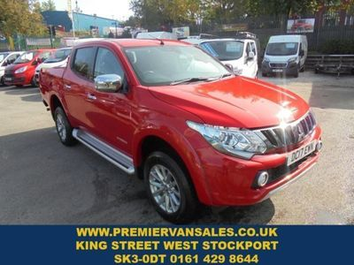 used Mitsubishi L200 2.4 DI-D 4WD WARRIOR DCB 178 BHP CHERRY RED METALLIC BLACK NAPPA LEATHER 2017, not known, 28000 miles.