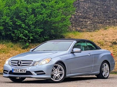 used Mercedes E200 E Class 2.0AMG Line Cabriolet 2dr Petrol 7G-Tronic Plus (s/s) (150 g/km, 181 bhp)