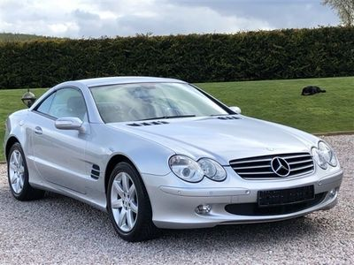 used Mercedes 350 SL ClassAMG SPEEDSHIFT AUTO. BRILLIANT SILVER WITH ANTHRACITE LEATHER AND ALUMINIUM. 2005 MDL.