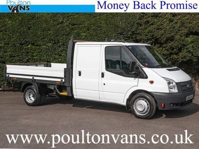 used Ford Transit T350 DRW EURO 5 100PS 6 SPEED 3 X SEAT LWB 98 ONE STOP DROPSIDE PICK UP, 2014, not known, 54901 miles.