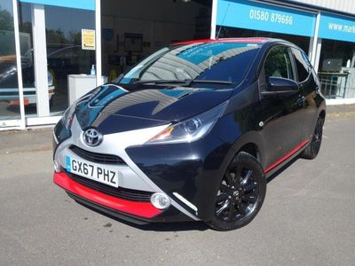 used Toyota Aygo 1.0 VVT-i X-Press 5dr Black low mileage only 9097 miles from new ! Stunning