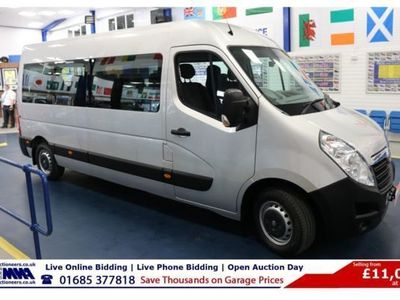 used Vauxhall Movano 3900 2.3CDTI 146PS BI TURBO L3 H2 17 SEAT MINIBUS, 2016, not known, 17000 miles.