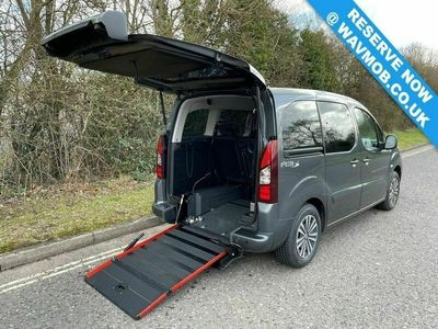 used Peugeot Partner Tepee 5 Seat Petrol Wheelchair Accessible Disabled Access Ramp Car 1.6 5dr