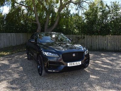 used Jaguar F-Pace 3.0 V6 S AWD 5d 375 BHP MET GREY BLACK/RED LEATHER