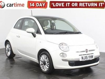 used Fiat 500 1.2 LOUNGE 3d 69 BHP Pan Roof Bluetooth Air Con 15 inch Alloys Service History