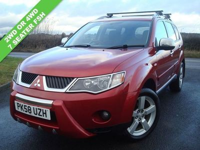 used Mitsubishi Outlander 2.0 INTENSE WARRIOR H-LINE DI-D 5d 139 BHP 4WD OR 2WD DIESEL 7 SEATER