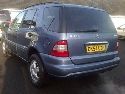 used Mercedes ML270 M-Class Station WagonCDI 5d Tip Auto (99)