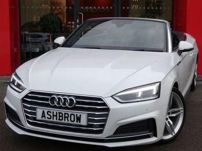 used Audi A5 Cabriolet 2.0 TFSI S LINE 2d AUTO 190 S/S ADVANCED KEY REAR CAMERA B&O HIFI