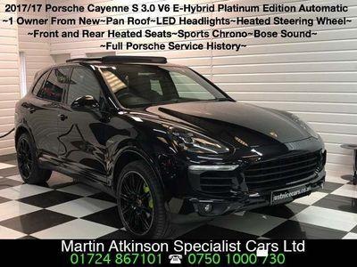 used Porsche Cayenne 3.0 E-Hybrid S Platinum Edition Tiptronic 4WD (s/s) 5dr