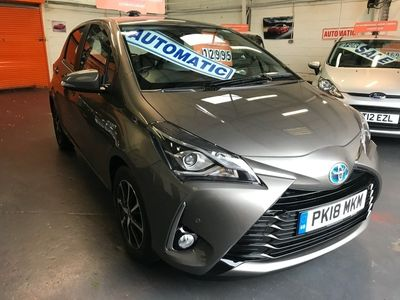 used Toyota Yaris 1.5 Hybrid Icon Tech 5dr CVT AUTOMATIC AUTOMATIC 1 OWNER FULL HISTORY 4,484 MILES.