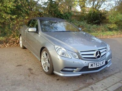 used Mercedes E350 E Class 3.0CDI BlueEFFICIENCY Sport Cabriolet G-Tronic 2dr