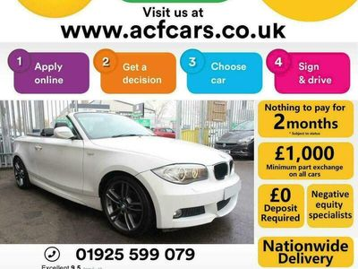 used BMW 120 Cabriolet 120d M SPORT - CAR FINANCE FR £44 PW Auto Convertible 2013