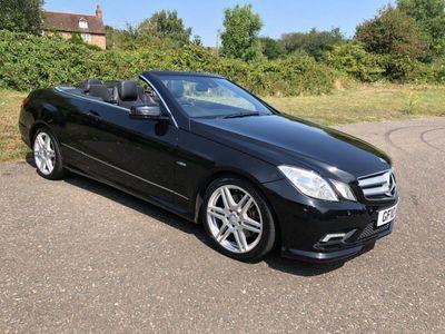used Mercedes E200 E Class 1.8CGI BlueEFFICIENCY Sport Cabriolet 2dr