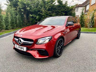 used Mercedes E63 AMG E Class 4.0BiTurbo V8 AMG S (Premium) SpdS MCT 4MATIC+ (s/s) 4dr