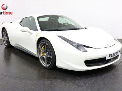 used Ferrari 458 4.5 SPIDER DCT 2d AUTO 570 BHP LHD SAT NAV Heated Leather Seats