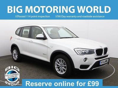 used BMW X3 XDRIVE20D SE for sale   Big Motoring World