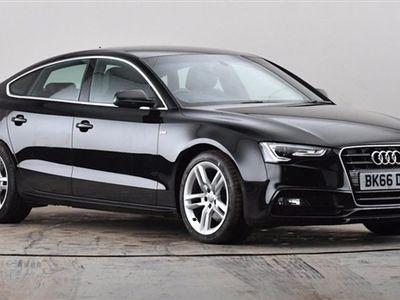 used Audi A5 2.0 TDI 190 S Line 5dr [Nav] [5 Seat] Black Manual Diesel