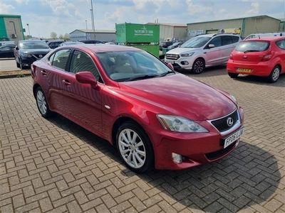 used Lexus IS220d SE 4 DOOR MANUAL DIESEL IN DEEP RED 2.2