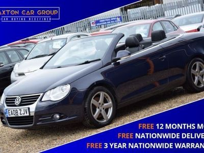 used VW Eos 2.0 SPORT TDI 2d 138 BHP + FREE NATIONWIDE DELIVERY + FREE 3 YEAR WARRANTY 2-Door