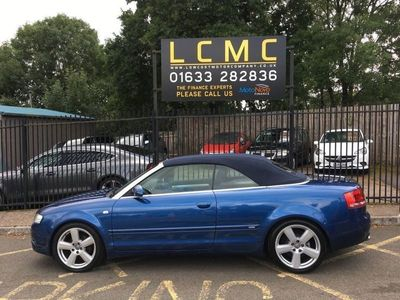 used Audi A4 Cabriolet 2.0 TDI S LINE 2d 141 BHP BIG SPEC, 18 INCH ALLOYS, LEATHER