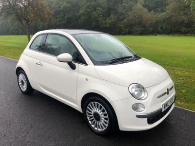used Fiat 500 1.2 Lounge 3dr [Start Stop] 65k pan roof