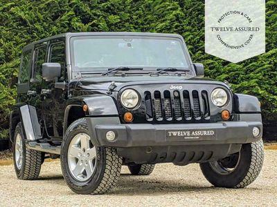 used Jeep Wrangler 2.8 SAHARA UNLIMITED CRD 4d AUTO 197 BHP