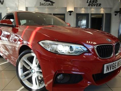 used BMW 218 2 Series 2.0 D M SPORT 2d AUTO 148 BHP Coupe 2017