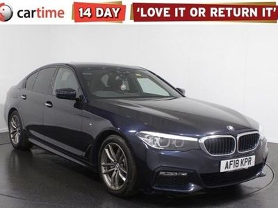 used BMW 520 5 SERIES 2.0 D M SPORT 4d 188 BHP SAT NAV Heated Leather Seats Privacy Glass Park