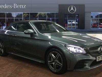 used Mercedes 500 C Class C220d AMG Line Premium Plus 2dr 9G-Tronic Diesel Cabriolet Auto, 2020, Convertible,miles.