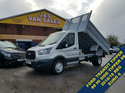 used Ford Transit T350 130 BHP EURO DOUBLE HI SIDE TIPPER 2018/18 REG