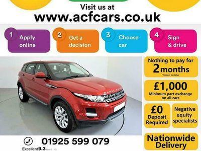 used Land Rover Range Rover evoque ED4 PURE TECH - CAR FINANCE FR £257 PCM