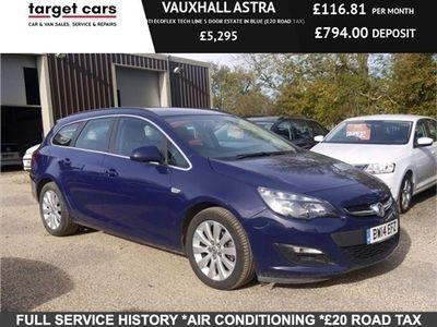 used Vauxhall Astra 1.7CDTI ECOFLEX TECH LINE 5 DOOR ESTATE IN BLUE (£20 ROAD TAX)